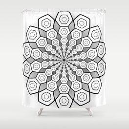 Hexa Mandala Shower Curtain
