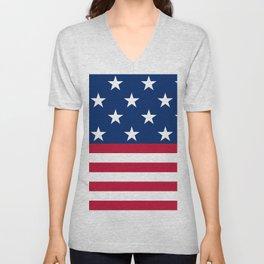 US Flag Unisex V-Neck