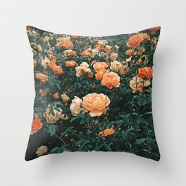 Forest of Roses Throw Pillow
