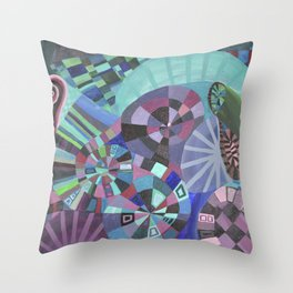 "Moo's Mom's art ""Purple Swirl"" Throw Pillow"