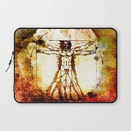 Vitruvian Man - Leonardo Da Vinci Tribute Art Laptop Sleeve