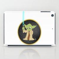 yoda iPad Cases featuring Yoda by alittlecartoonie