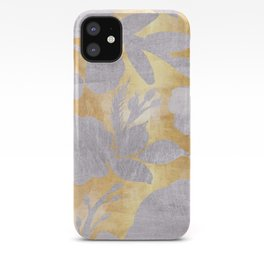Gold and silver floral iPhone Case