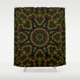 Red Yellow and Black Kaleidoscope Shower Curtain
