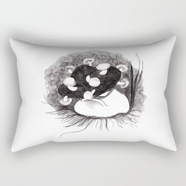 Small Angry Squishy Mushroom Rectangular Pillow