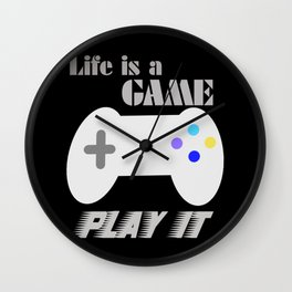 Life is a game Wall Clock