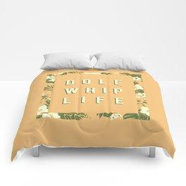 Dole Whip Life (orange) Comforters