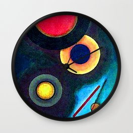 Wassily Kandinsky Composition with Circles and Lines Wall Clock