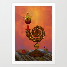 The Wizard's Table Art Print