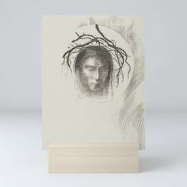The Very Disk of the Sun Shines the Face of Jesus Christ by Odilon Redon Mini Art Print