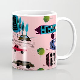 CityView pink Coffee Mug