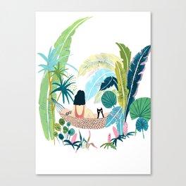 Jungle Hammock Pals Canvas Print