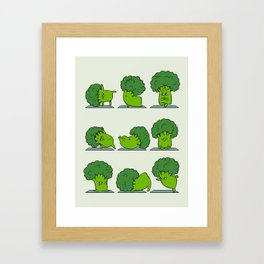 Broccoli Yoga Framed Art Print