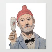 zissou Canvas Prints featuring Zissou by The A B Project