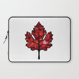 A Maple Leaf with Heart Laptop Sleeve