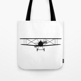 Biplane Silhouette Tote Bag