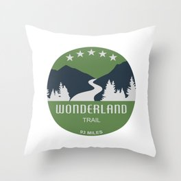 Wonderland Trail Throw Pillow