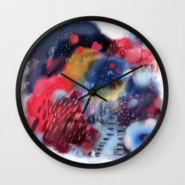 CLOUDS ON FIRE Wall Clock