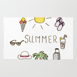 Summer feels Rug
