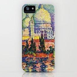 View of Santa Maria della Salute, Venice Landscape by Paul Signac iPhone Case