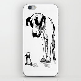 Great Dane & Chihuahua iPhone Skin