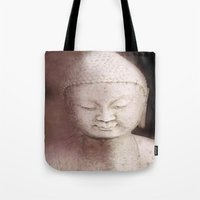 buddah Tote Bags featuring Buddah 1 by Linda K. Photography & Design