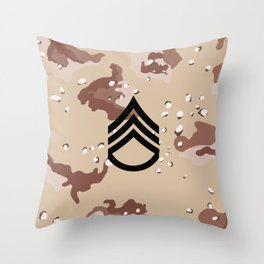 Staff Sergeant (Desert Camo) Throw Pillow