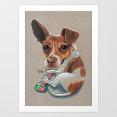 Rex Puppy Dog Art Art Print
