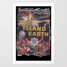 This Island Earth: Pulped Fiction Edition Art Print