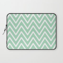 Chevron Wave Mint Laptop Sleeve