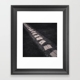 Book Path Framed Art Print