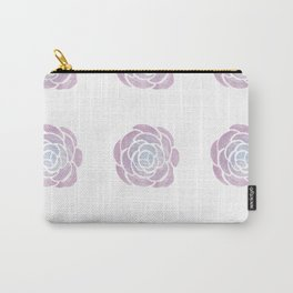 Peony Watercolor - Pink, Purple, Blue Palette Carry-All Pouch