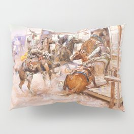 In Without Knocking - Charles Marion Russell Pillow Sham