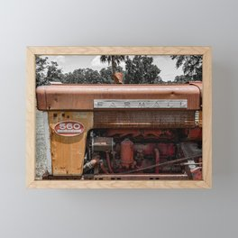 Rusty Red McCormick 560 Vintage Farmall Tractor  Framed Mini Art Print