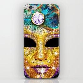 Golden Carnival Mask iPhone Skin