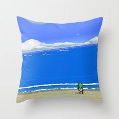 Wake the Sea Throw Pillow