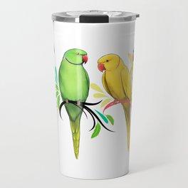 Indian Ringneck Parrots Travel Mug
