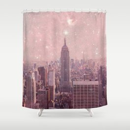 Stardust Covering New York Shower Curtain