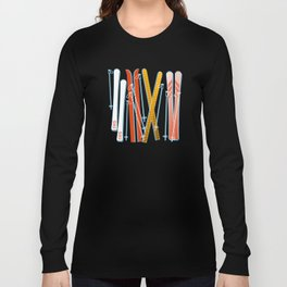 Colorful Ski Pattern Long Sleeve T-shirt