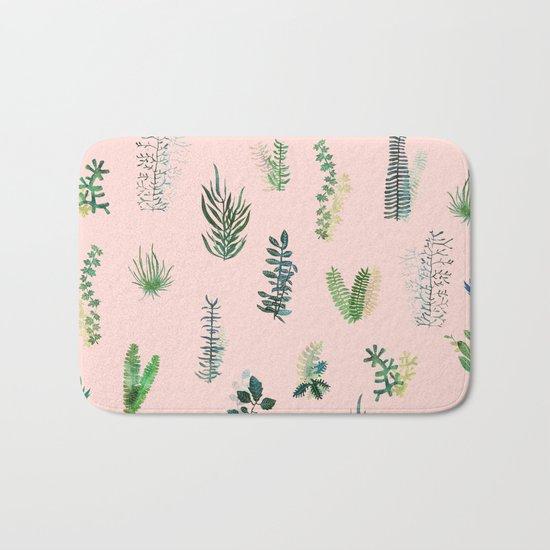 pink may garden!! Bath Mat