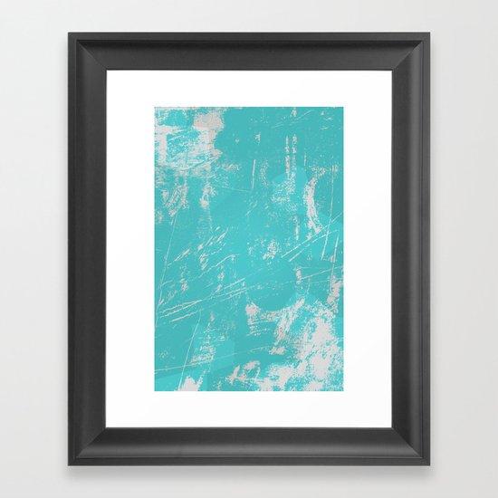 sea green Framed Art Print