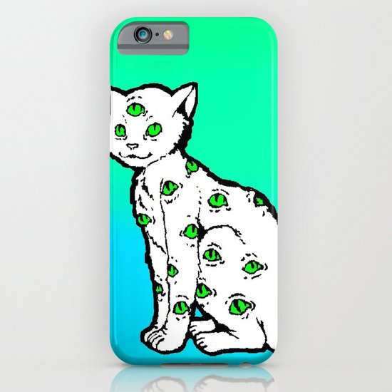 SCAREDY CAT (Cool Colors) iPhone & iPod Case