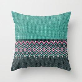 Beaded pattern Throw Pillow