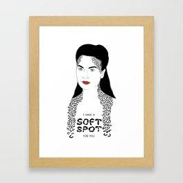 I Have A Soft Spot For You Framed Art Print