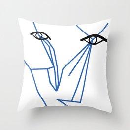 Eyes looking  Throw Pillow