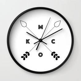 KCMO Kansas City x Arrows Wall Clock