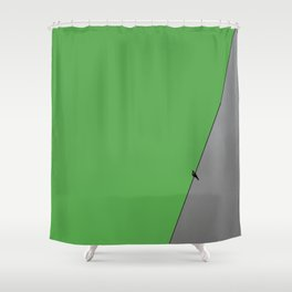 Solitude in green Shower Curtain