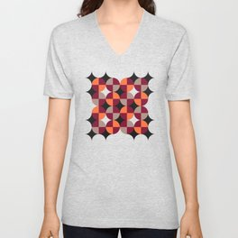 WineRed Squares Unisex V-Neck