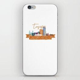 Cool Tucson skyline design iPhone Skin