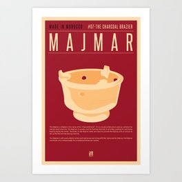 MADE IN MOROCCO #07-CHARCOAL BRAZIER Art Print
